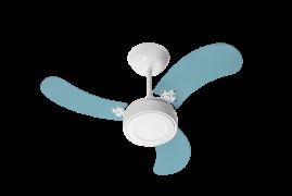Ventilador de Teto New Led Colors Branco 3 Pás Azul - Venti Delta