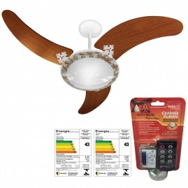 Ventilador Delta Ventus 3 Pás Branco com Controle Remoto