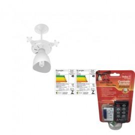 Ventilador New Cristal Light 3 Pás Branco com Controle Remoto
