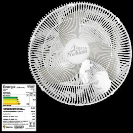 Ventilador Oscilante Parede Premiun 60 Branco Bivolt 60 Fios