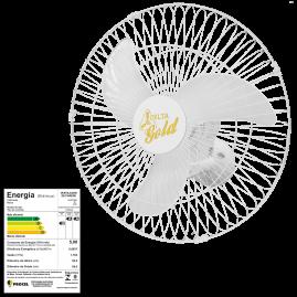 Ventilador Oscilante Parede Gold 60 Branco Bivolt 146 Fios