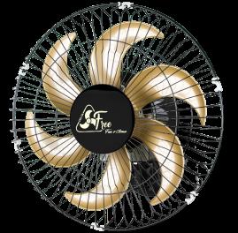 Ventilador Oscilante  de Parede Free 40cm Preto Bivolt - Grade Metal