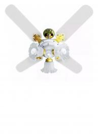 Ventilador de Teto New Zeta 4 Pás Laqueadas Branco/Latonado