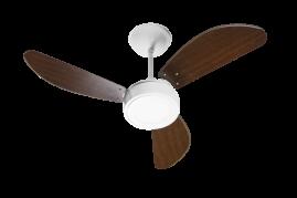 Ventilador de Teto New Light Led Branco 3 Pás Tabaco - Venti Delta