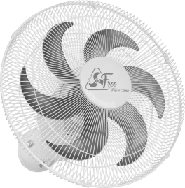 Ventilador Oscilante  de Parede Free 40cm Branco Bivolt - Grade Metal