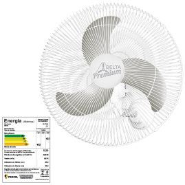 Ventilador Oscilante Parede Premiun 60cm Branco Bivolt 146 Fios