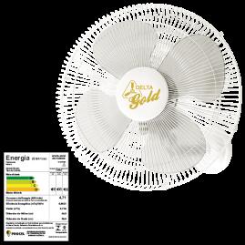 Ventilador Oscilante Parede Gold 50cm Branco Bivolt 140 Fios
