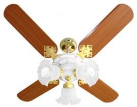 Ventilador New Zeta 4 P Branco/latonado