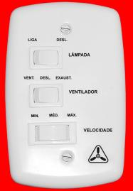 Chave para Ventilador de teto 3 Velocidades Capacitor 1,5 + 2,5uF 220v