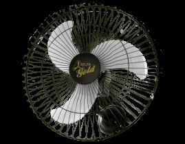 Ventilador Oscilante Parede Gold 60cm Preto Bivolt 60 Fios