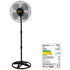 Ventilador Oscilante Coluna Gold 50cm Preto Bivolt